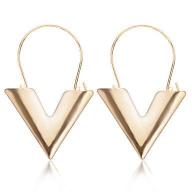 povoljno Modne naušnice-Žene Viseće naušnice Monogrami Slovo dame Europska Moda Naušnice Jewelry Zlato / Pink Za Dnevno