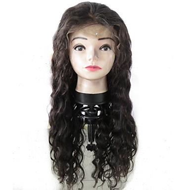 Αγνή Τρίχα Φυσικά μαλλιά Δαντέλα Μπροστά Χωρίς Κόλλα Δαντέλα Μπροστά Περούκα στυλ Περουβιανή Κυματιστό Κύμα Νερού Περούκα 130% Πυκνότητα μαλλιών με τα μαλλιά μωρών Φυσική γραμμή των μαλλιών 100