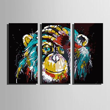 povoljno Ukrašavanje zidova-Print Rolled Canvas Prints Moderna Tri plohe Umjetničke grafike