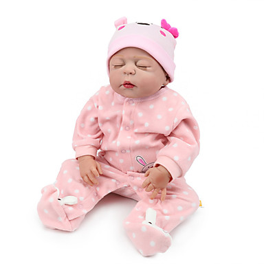 NPKCOLLECTION NPK DOLL Κούκλες σαν αληθινές Κορίτσι κορίτσι Μωρά Κορίτσια 22 inch Σιλικόνη πλήρους σώματος Σιλικόνη Βινύλιο - όμοιος με ζωντανό Χαριτωμένο Χειροποίητο Ασφαλής για παιδιά Non Toxic
