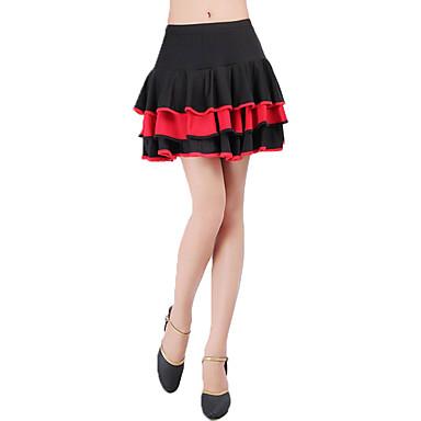 Λάτιν Χοροί Παντελόνια Φούστες Γυναικεία Εκπαίδευση Πολυεστέρας Διαφορετικά Υφάσματα Κυματοειδές Χαμηλή Μέση Φούστες