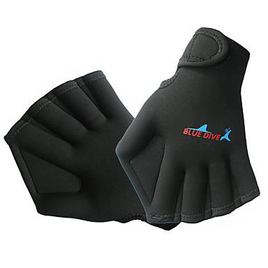 Bluedive ถุงมือดำน้ำ ถุงมือกันน้ำ กิจกรรมและถุงมือสำหรับกีฬา 2mm ไนลอน Neoprene ถุงมือพายแบบมีพังผืด รักษาให้อุ่น แห้งเร็ว ออกแบบตามสรีระ การดำน้ำ กีฬาสันทนาการ พายเรือ / สำหรับเด็ก