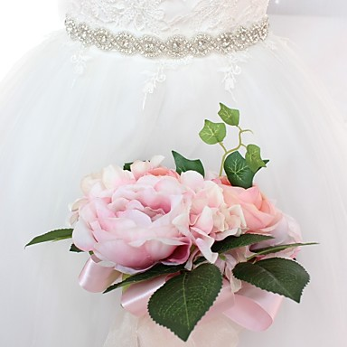 Σατέν / Τούλι Γάμου / Ειδική Περίσταση Ζώνη Με Τεχνητό διαμάντι Γυναικεία Ζώνες για Φορέματα