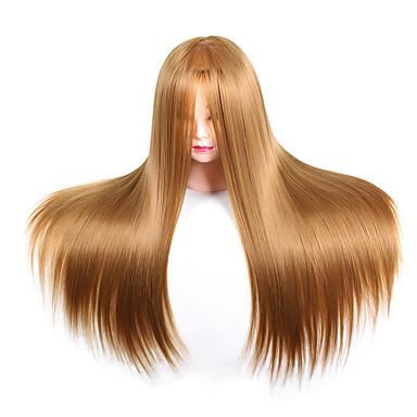 povoljno Ekstenzije za kosu-Alati za stiliziranje kose Synthetic Hair Glave za perike Dnevno Klasik Tamno Auburn Tamno Vino Crna