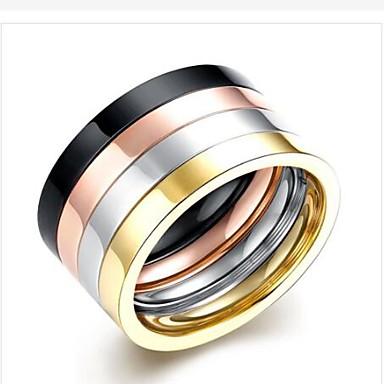 Ανδρικά Band Ring 4pcs Ουράνιο Τόξο Ανοξείδωτο Ατσάλι Τιτάνιο Ατσάλι Circle Shape Μοντέρνα Δώρο Καθημερινά Κοσμήματα