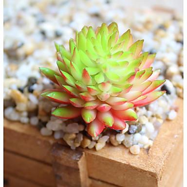 Flores Artificiales 3 Rama Estilo Pastoral Plantas Suculentas Flor