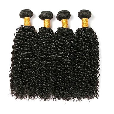 4 πακέτα Βραζιλιάνικη Σγουρά Κλασσικά Kinky Curly Φυσικά μαλλιά Υφάνσεις ανθρώπινα μαλλιών Υφάνσεις ανθρώπινα μαλλιών Επεκτάσεις ανθρώπινα μαλλιών / 8A / Kinky Σγουρό
