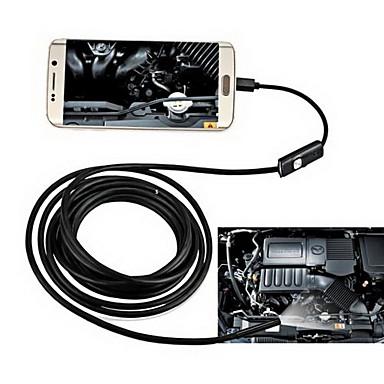 billige Mikroskop og endoskop-2in1 android&Pc 8.0mm linse hd endoskop 2,0 mega piksler 6 ledet ip67 vanntett inspeksjon borescope 2m lang fleksibel ledning