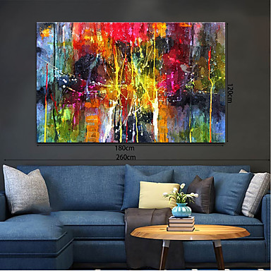 cheap Oil Paintings-Oil Painting Handmade Hand Painted Wall Art Home Decoration Décor Living Room Bedroom Abstract Landscape Modern Contemporary Rolled Canvas Rolled Without Frame