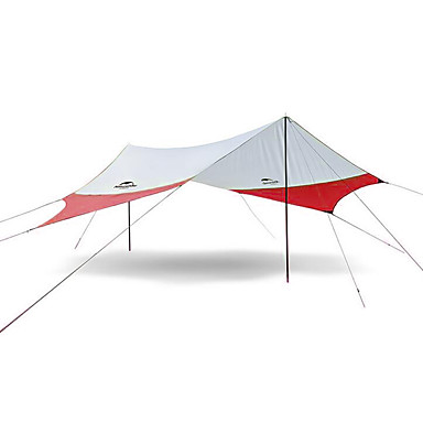 cheap Tents, Canopies & Shelters-Naturehike 4 person Camping Shelter Outdoor Rain Waterproof Mountaineering UV Protection Single Layered Poled Camping Tent >3000 mm for Camping / Hiking Terylene 520*460 cm
