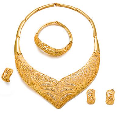 5b5297777ffd Mujer Conjunto de joyas Chapado en Oro Importante