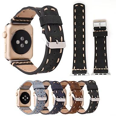 Παρακολουθήστε Band για Apple Watch Series 5/4/3/2/1 Apple Δερμάτινη Πλέξη Γνήσιο δέρμα Λουράκι Καρπού