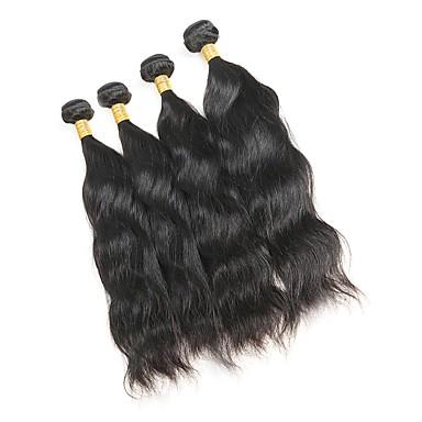 povoljno Ekstenzije za kosu-4 paketića Malezijska kosa Prirodne kovrče Remy kosa Ljudske kose plete Isprepliće ljudske kose Proširenja ljudske kose / 10A