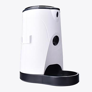 preiswerte Bekleidung & Accessoires für Hunde-Hunde Katzen Haustiere Futter- & Trink-Vorrichtungen / Futter-Vorrichtungen 4 L Automatischer Futterspender für Haustiere Automatische Wasserspender für Haustiere Solide Weiß Schüsseln & Füttern