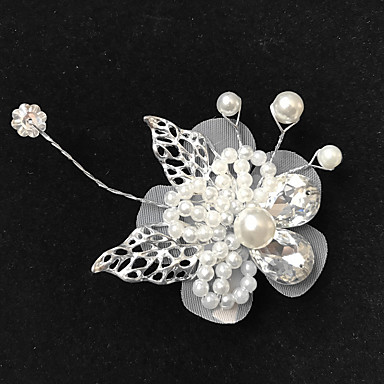54611123c80 Napodobenina perel   Slitina Spona do vlasů s akrylový diamant   Umělé perly  1ks Svatební Přílba 6604887 2019 –  4.99