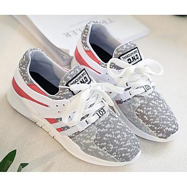 on sale 24385 05d9a Dam Låg Klack Vår Höst 6573625 Svart Sneakers Komfort Tyll Grå rrqwCB