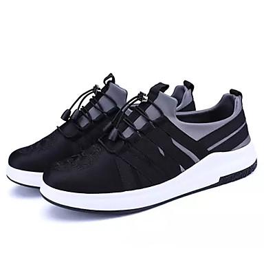 Hombre Zapatos Cuero Sintético Primavera / Otoño Confort Zapatillas de deporte Paseo Negro / Rojo tTU0eWV7f
