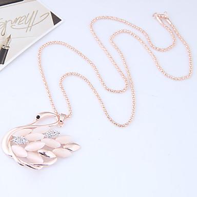 povoljno Modne ogrlice-Žene Ogrlice s privjeskom Long Labud Sa životinjama dame Europska Moda Legura Zlato Ogrlice Jewelry Za Kauzalni