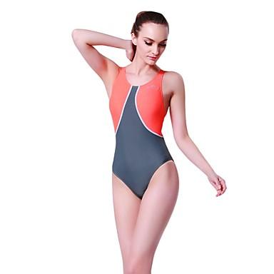 Γυναικεία Μαγιό Μεσαίου Πάχους Spandex Κορμάκι Αμάνικο Κολύμβηση Patchwork Άνοιξη, Φθινόπωρο, Χειμώνας, Καλοκαίρι