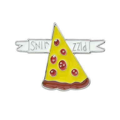 levne Dámské šperky-Dámské Brože Kaktus Pizza Stuha Základní Módní Brož Šperky Žlutá Zelená Sedmibarevná LED Pro Denní Rande