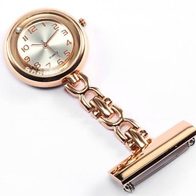 billige Halskjede klokke-Dame Par Lommeklokke Halskjede klokke Sykepleierklokke Quartz damer Hverdagsklokke Sølv / Gylden / Rose Analog - Gull Sølv Rose