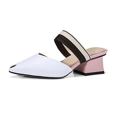 Excellent Pour La Vente Nice En Ligne Mujer Zapatos Cuero Primavera Confort Zuecos y pantuflas Tacón Stiletto Blanco / Verde Oscuro Manchester Recommander Rabais xmgwfGiuH