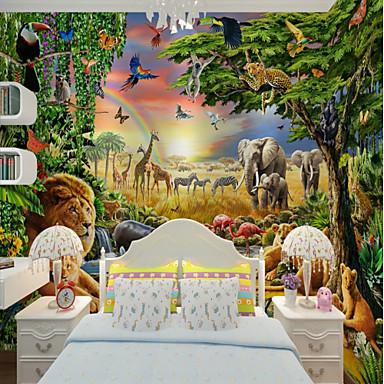 Art Deco Μοτίβο 3D Αρχική Διακόσμηση Κλασσικό Μοντέρνα Κάλυψης τοίχων, Καμβάς Υλικό κόλλα που απαιτείται Τοιχογραφία, δωμάτιο Wallcovering