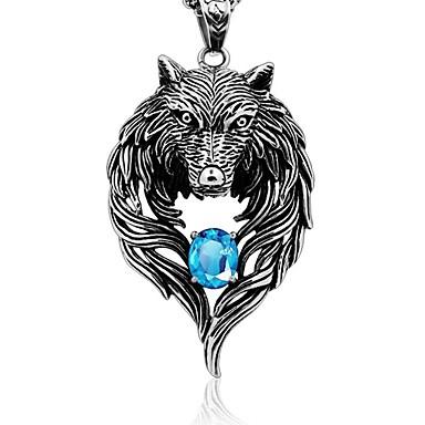 levne Dámské šperky-Pánské Přívěšky Solitaire Vlk dámy Rokové Gothic Chunky Brož Šperky Stříbrná Pro Denní Street