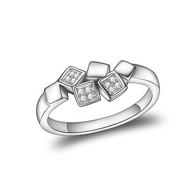 Γυναικεία Δέσε Ring Cubic Zirconia Ασημί Ζιρκονίτης Επάργυρο Geometric Shape Κλασσικό Γάμου Βραδινό Πάρτυ Κοσμήματα Leaf Shape Λουλούδι
