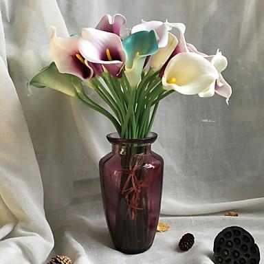 Ψεύτικα λουλούδια 5 Κλαδί Rustic Γάμος Κάλλες Λουλούδι για Τραπέζι