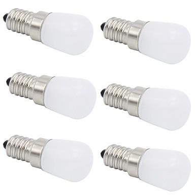 6pcs 2 W 280-320 lm E14 E12 T 1 LED χάντρες COB Διακοσμητικό Θερμό Λευκό Ψυχρό Λευκό 220-240 V