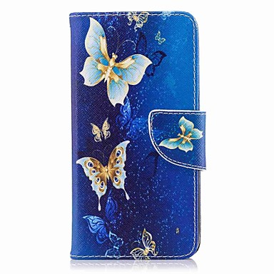 tok Για Huawei P10 Lite / P10 / P9 lite mini Πορτοφόλι / Θήκη καρτών / με βάση στήριξης Πλήρης Θήκη Πεταλούδα Σκληρή PU δέρμα