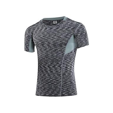 Ανδρικά Μπλούζα συμπίεσης Μονόχρωμο Φυσική Κάτάσταση Φανέλα Ρούχα συμπίεσης Μεγάλα Μεγέθη Κοντομάνικο Ρούχα Γυμναστικής Ικανότητα να αναπνέει Ελαστικό