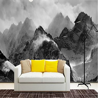 καπνιστό λυκόφως βουνά έθιμο 3d μεγάλα wallcoverings τοιχογραφίες ταπετσαρία μέτρια εστιατόριο τηλεόραση φόντο πόλη