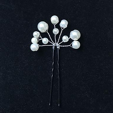 Απομίμηση Μαργαριταριού Μαντήλι / Hair Stick / Τσιμπιδάκι με Απομίμηση Πέρλας 1pc Γάμου Headpiece