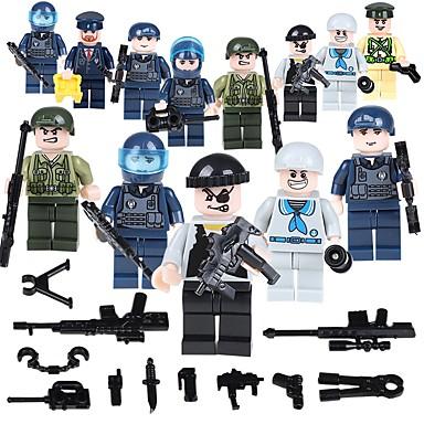 Τουβλάκια Στρατιωτικά μπλοκ Κατασκευασμένα Παιχνίδια 19 pcs Άνθρωποι Στρατιώτης συμβατό Legoing Σχολείο Στρες και το άγχος Αρωγής Αλληλεπίδραση γονέα-παιδιού Κλασσικό Άνθρωποι Εικόνα