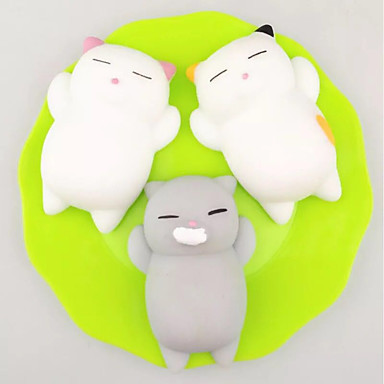 LT.Squishies Ζουληχτά παιχνίδια Γάτα Ζώο Άνιμαλ Στρες και το άγχος Αρωγής Γραφείο Γραφείο Παιχνίδια Squishy 3 pcs Ενηλίκων Παιχνίδια Δώρο