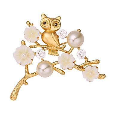 Γυναικεία Καρφίτσες Ζώο κυρίες Γλυκός Καρφίτσα Κοσμήματα Ασημί Χρυσαφί Για Καθημερινά Ημερομηνία
