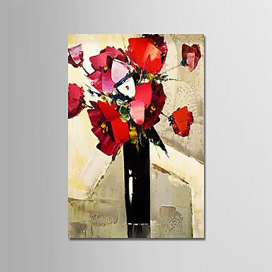 Hang-ζωγραφισμένα ελαιογραφία Ζωγραφισμένα στο χέρι - Νεκρή Φύση Μοντέρνα Περιλαμβάνει εσωτερικό πλαίσιο / Επενδυμένο καμβά