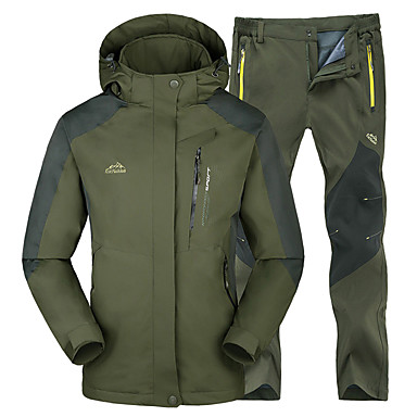 Men S Hiking Jacket With Pants Winter Outdoor Thermal