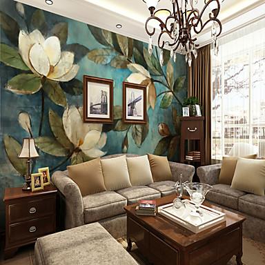 3d σετ ζωγραφισμένο στο χέρι άσπρη γαρδένια μεγάλο τοίχο που καλύπτει τοιχογραφία ταπετσαρία κατάλληλο εστιατόριο υπνοδωμάτιο floral