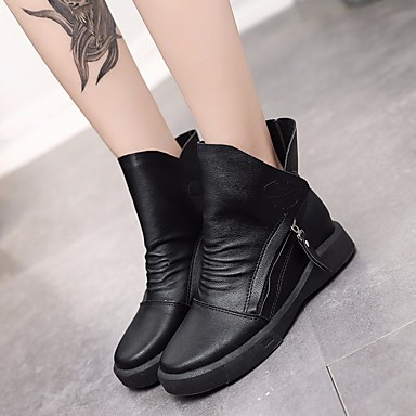 Women S Shoes Pu Fall Winter Combat Boots Comfort Low Heel Booties Ankle For Casual Black Brown 6593491 2018 26 99
