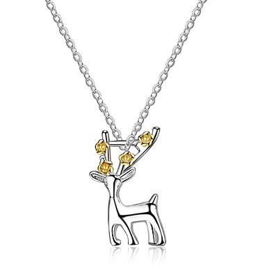 povoljno Modne ogrlice-Žene Kristal Ogrlice s privjeskom Jelen Sa životinjama dame Gotika Korejski Kristal Steel Alloy Pink 45 cm Ogrlice Jewelry Za Rođendan Svečanost