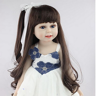 NPKCOLLECTION NPK DOLL Κούκλες σαν αληθινές Κορίτσι κορίτσι Μωρά Κορίτσια 18 inch Σιλικόνη - Νεογέννητος όμοιος με ζωντανό Χαριτωμένο Ασφαλής για παιδιά Non Toxic Χειροποίητες βλεφαρίδες Παιδικά