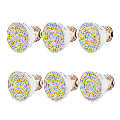 YWXLIGHT® 6pcs 5 W LED Σποτάκια 400-500 lm GU10 MR16 E26 / E27 54 LED χάντρες SMD 2835 Θερμό Λευκό Ψυχρό Λευκό Φυσικό Λευκό 220-240 V 110-130 V