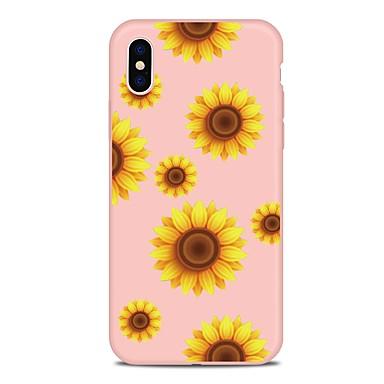 Etui Til Apple iPhone X / iPhone 8 Plus / iPhone 8 Mønster Bakdeksel Blomsternål i krystall Myk TPU