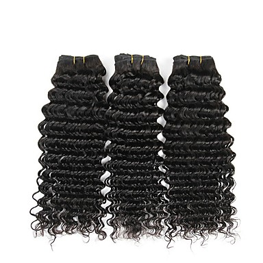 3 δεσμίδες Βραζιλιάνικη Κυματιστό Φυσικά μαλλιά Προέκταση Εξτένσιον από Ανθρώπινη Τρίχα Υφάνσεις ανθρώπινα μαλλιών επέκταση Επεκτάσεις ανθρώπινα μαλλιών / 8A