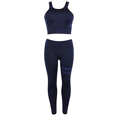 Γυναικεία Activewear Σετ Γιόγκα Πολυάθλημα Τζόγκινγκ ΑΘΛΗΤΙΚΑ ΡΟΥΧΑ Ικανότητα να αναπνέει Μπολύζες Ρούχα σύνολα Αμάνικο Ρούχα Γυμναστικής Ελαστικό
