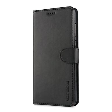 tok Για Huawei P10 Plus / P10 Lite / P10 Πορτοφόλι / Θήκη καρτών / Ανθεκτική σε πτώσεις Πλήρης Θήκη Μονόχρωμο Σκληρή PU δέρμα