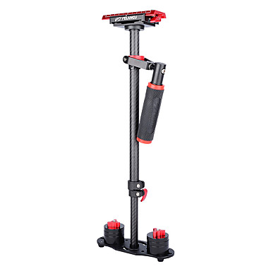 cheap Camera & Photo-YELANGU S60T 60cm Carbon Fiber Handheld Stabilizer for DSLR Camera DV(Red)
